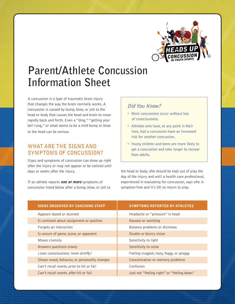 Parent/Athlete Concussion Information Sheet
